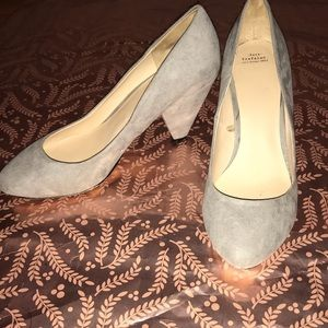 Zara Trafaluc Light Grey Block Heel